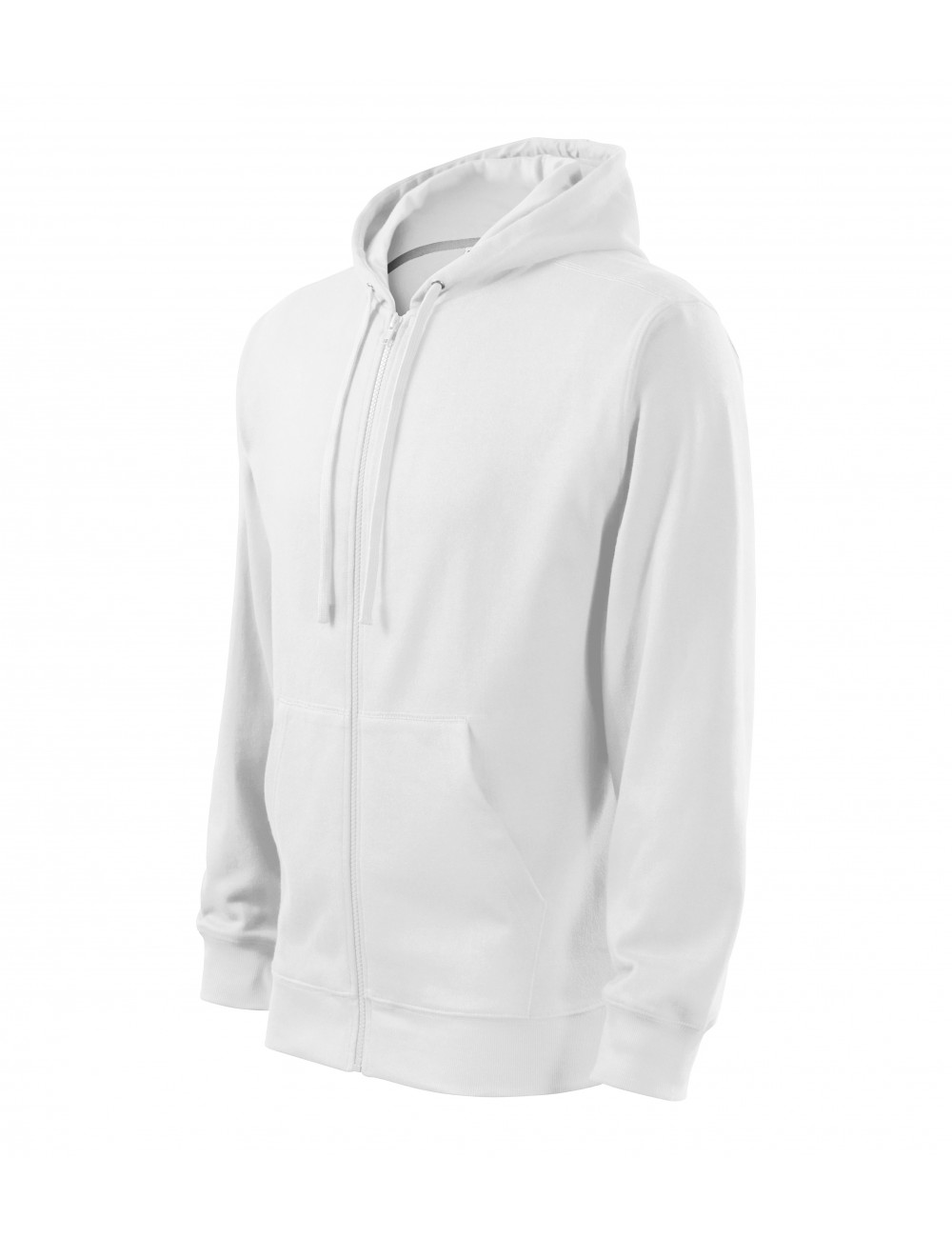 Adler MALFINI Bluza męska Trendy Zipper 410 biały
