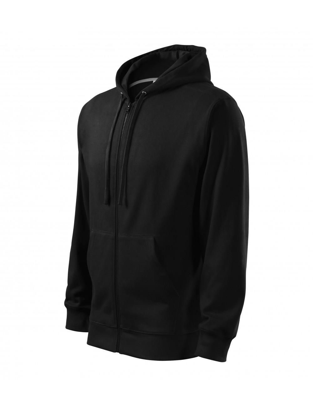 Adler MALFINI Bluza męska Trendy Zipper 410 czarny