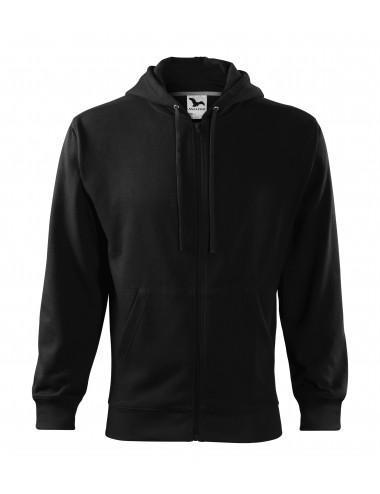 2Adler MALFINI Bluza męska Trendy Zipper 410 czarny
