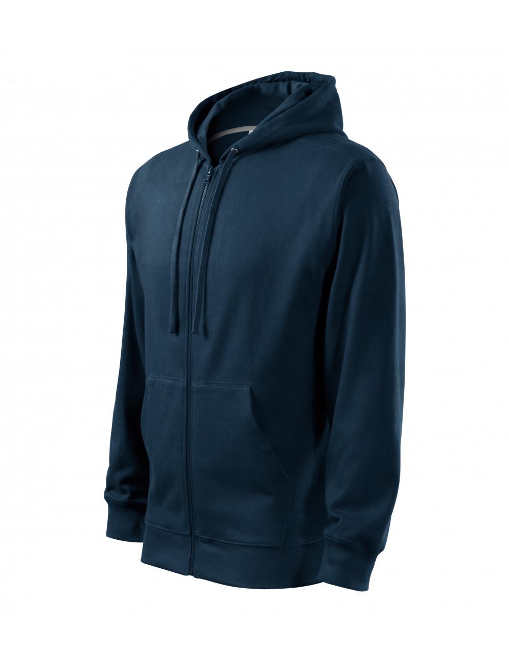 Adler MALFINI Bluza męska Trendy Zipper 410 granatowy