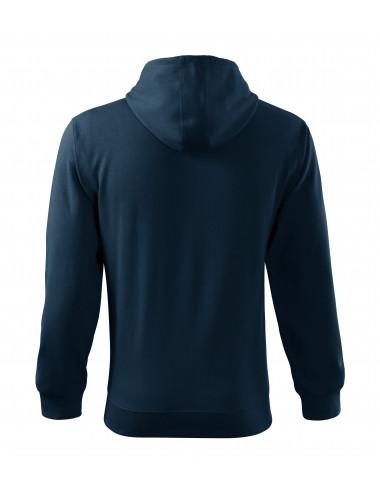 2Adler MALFINI Bluza męska Trendy Zipper 410 granatowy