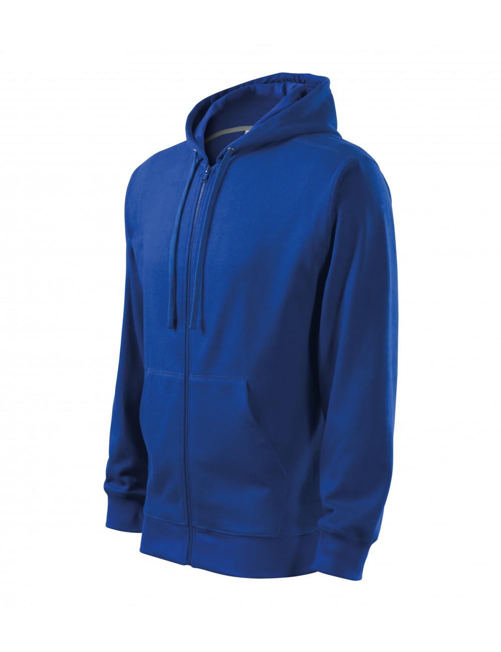 Adler MALFINI Bluza męska Trendy Zipper 410 chabrowy