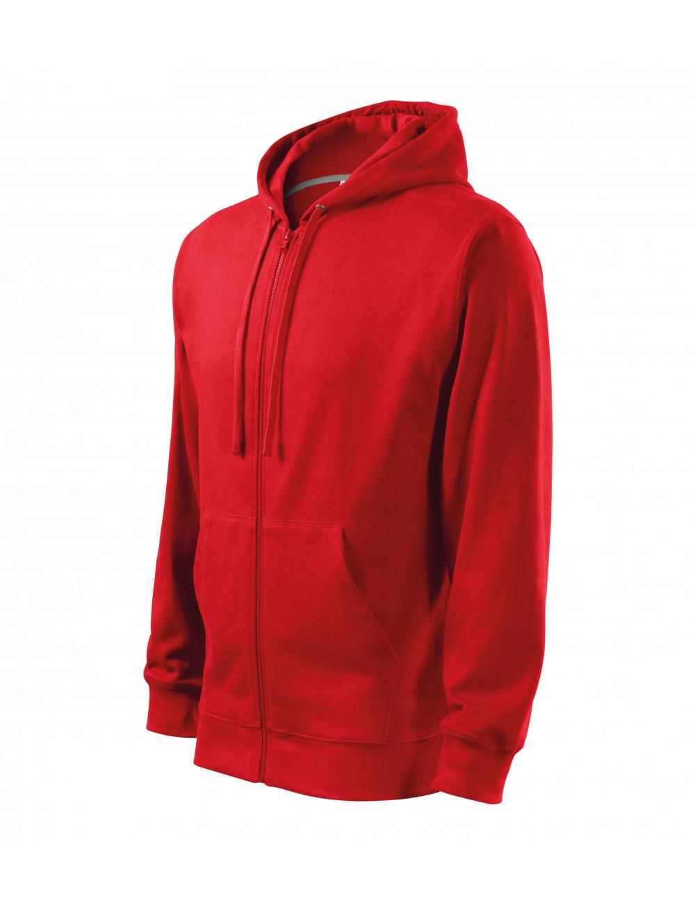 Adler MALFINI Bluza męska Trendy Zipper 410 czerwony