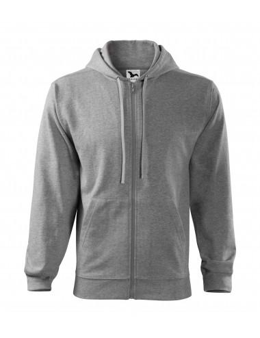 2Adler MALFINI Bluza męska Trendy Zipper 410 ciemnoszary melanż