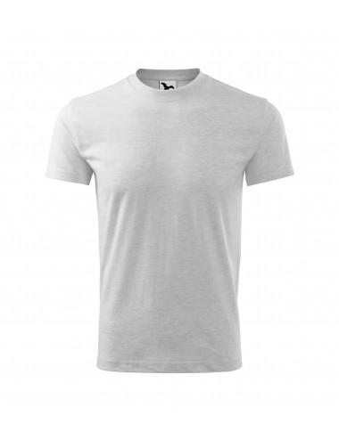 2Adler MALFINI Koszulka dziecięca Basic 138 jasnoszary melanż