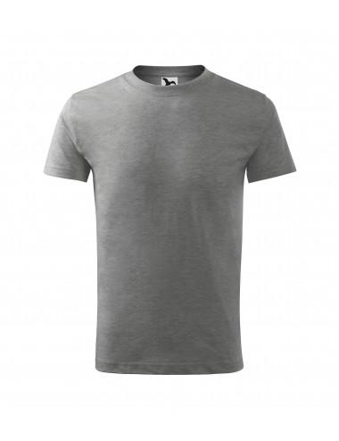 2Adler MALFINI Koszulka dziecięca Basic 138 ciemnoszary melanż