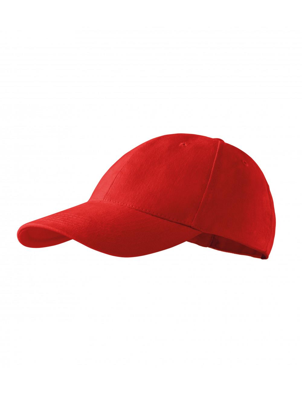 Adler MALFINI Czapka unisex 6P 305 czerwony