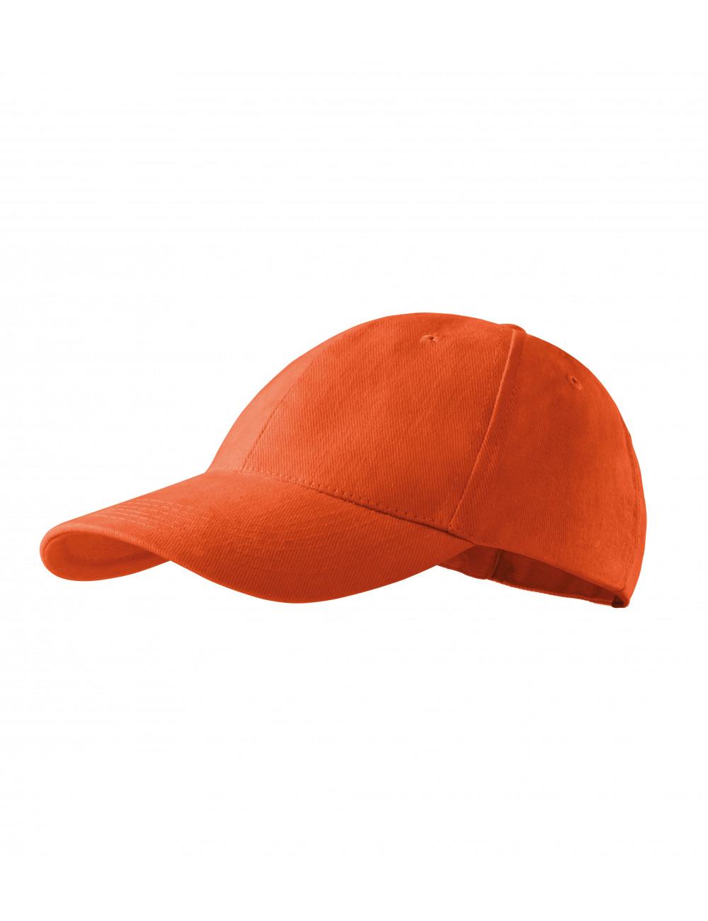 Adler MALFINI Czapka unisex 6P 305 pomarańczowy