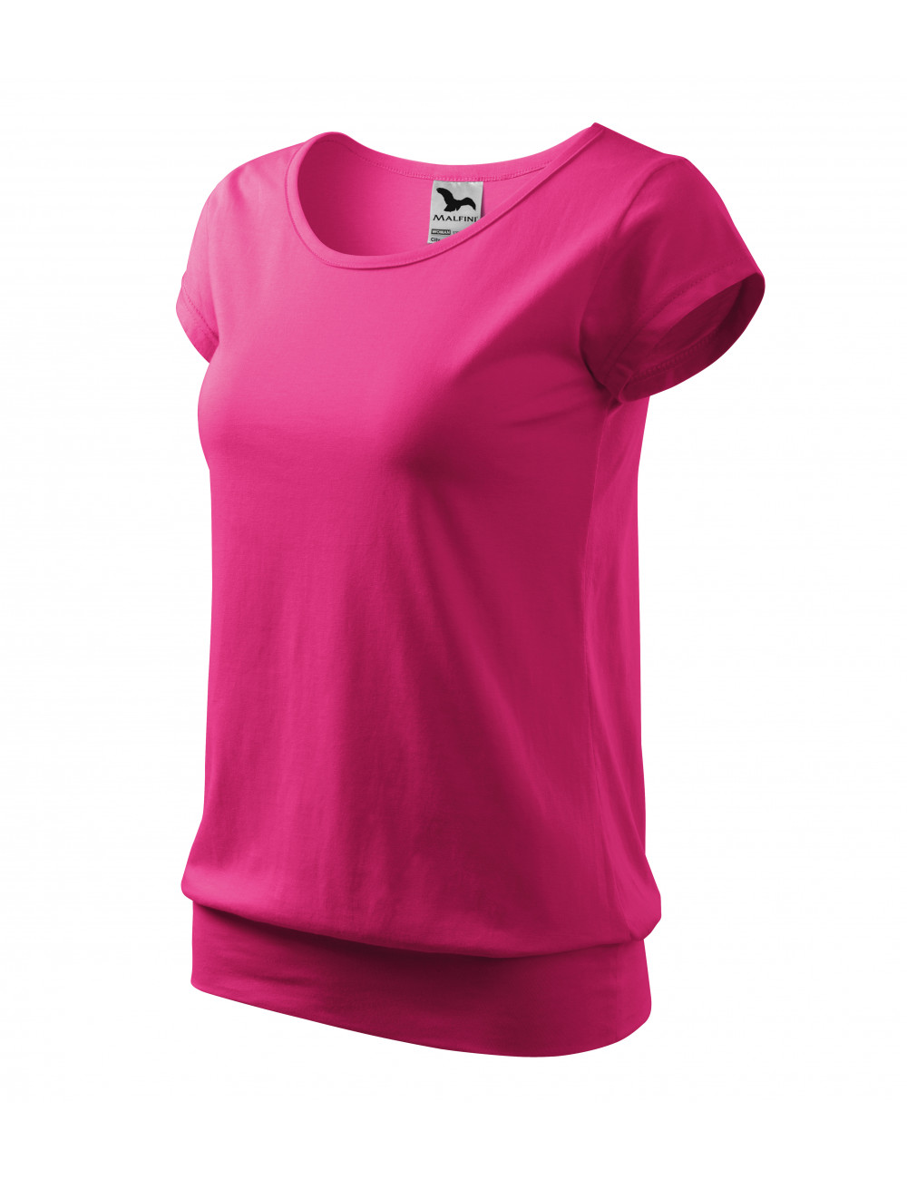 Adler MALFINI Koszulka damska City 120 czerwień purpurowa
