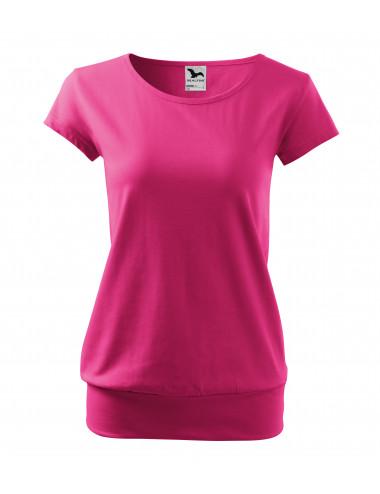 2Adler MALFINI Koszulka damska City 120 czerwień purpurowa