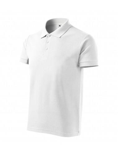 Adler MALFINI Koszulka polo męska Cotton Heavy 215 biały