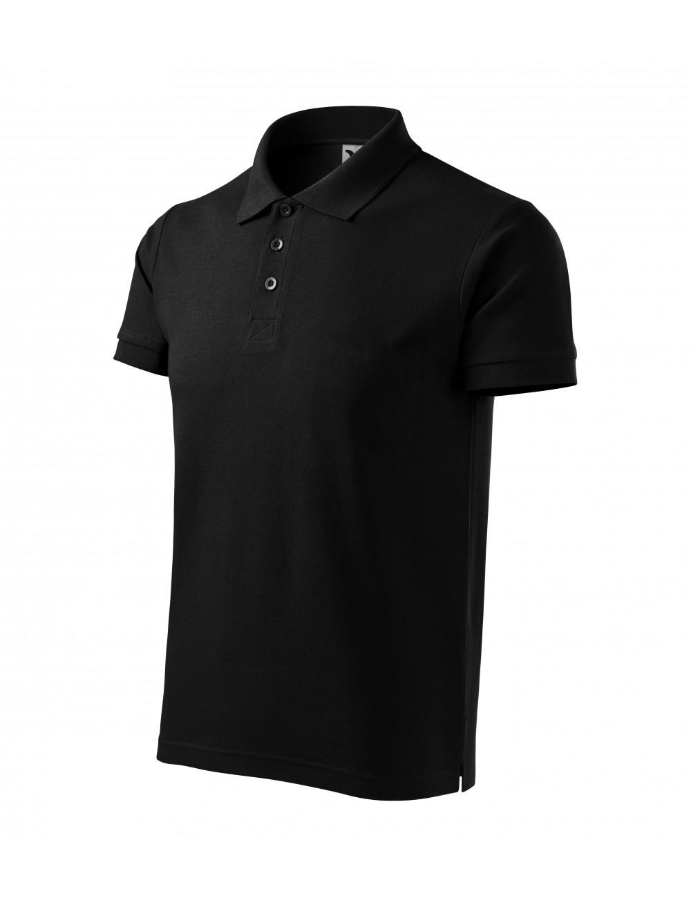 Adler MALFINI Koszulka polo męska Cotton Heavy 215 czarny