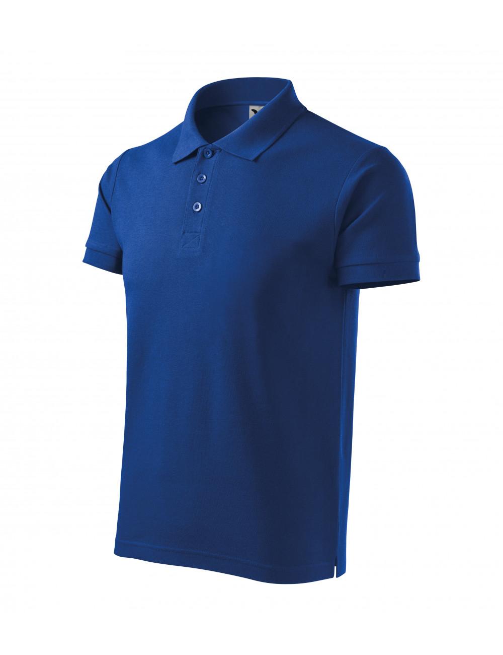 Adler MALFINI Koszulka polo męska Cotton Heavy 215 chabrowy