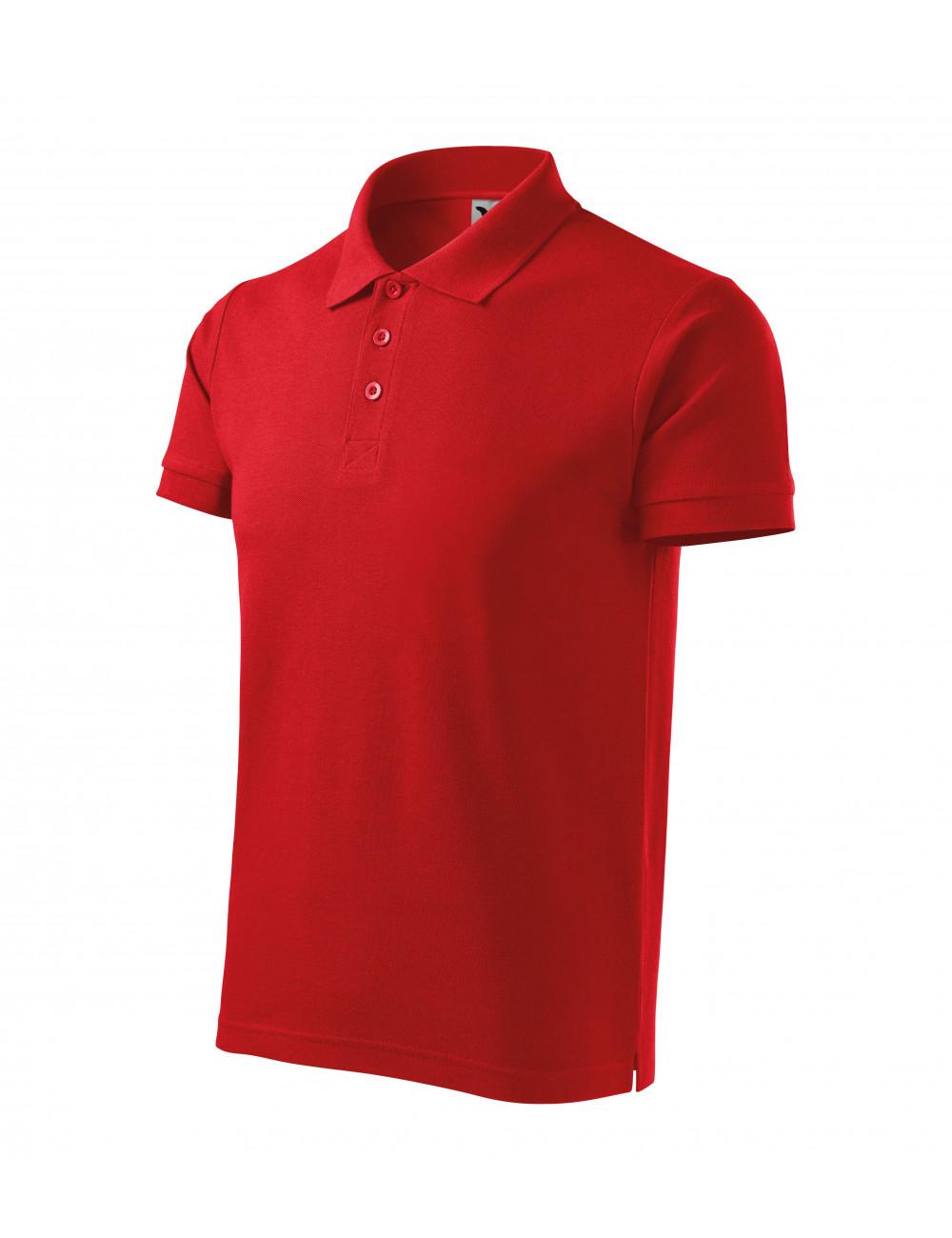 Adler MALFINI Koszulka polo męska Cotton Heavy 215 czerwony