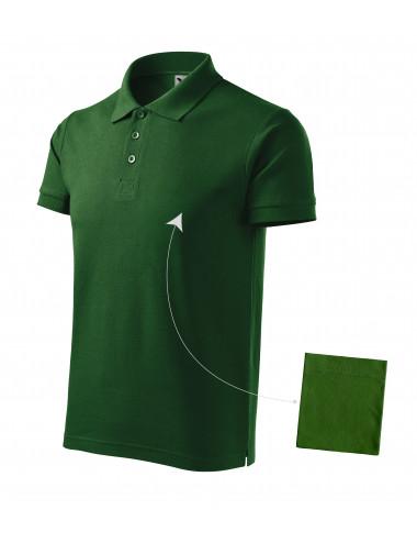 Adler MALFINI Koszulka polo męska Cotton 212 zieleń butelkowa