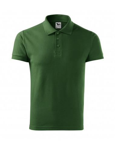 2Adler MALFINI Koszulka polo męska Cotton 212 zieleń butelkowa