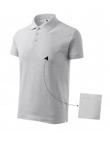 2Adler MALFINI Koszulka polo męska Cotton 212 jasnoszary melanż