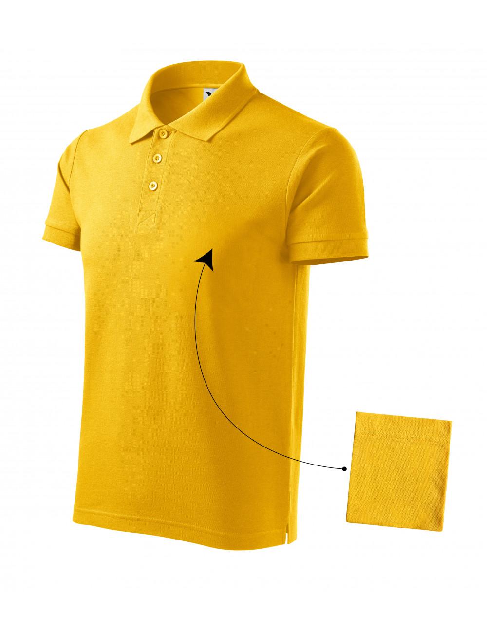 Adler MALFINI Koszulka polo męska Cotton 212 żółty
