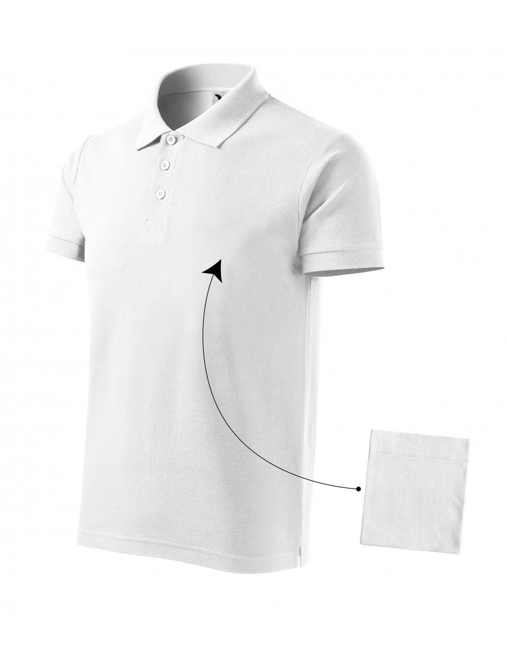 Adler MALFINI Koszulka polo męska Cotton 212 biały