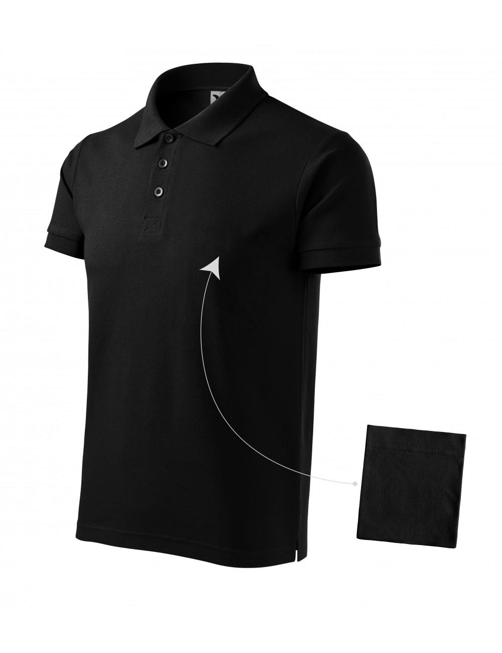 Adler MALFINI Koszulka polo męska Cotton 212 czarny
