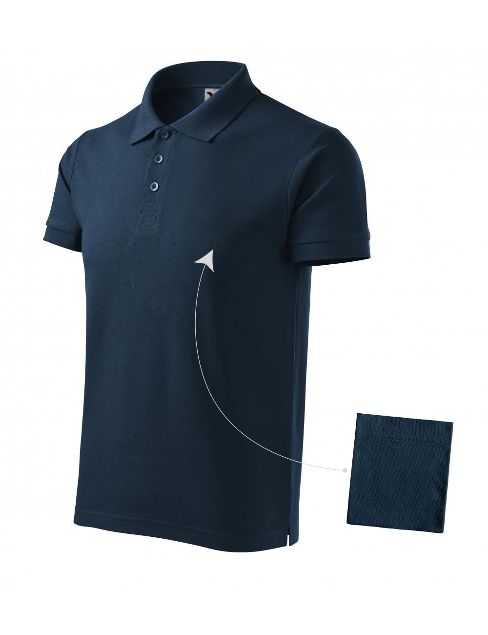 Adler MALFINI Koszulka polo męska Cotton 212 granatowy