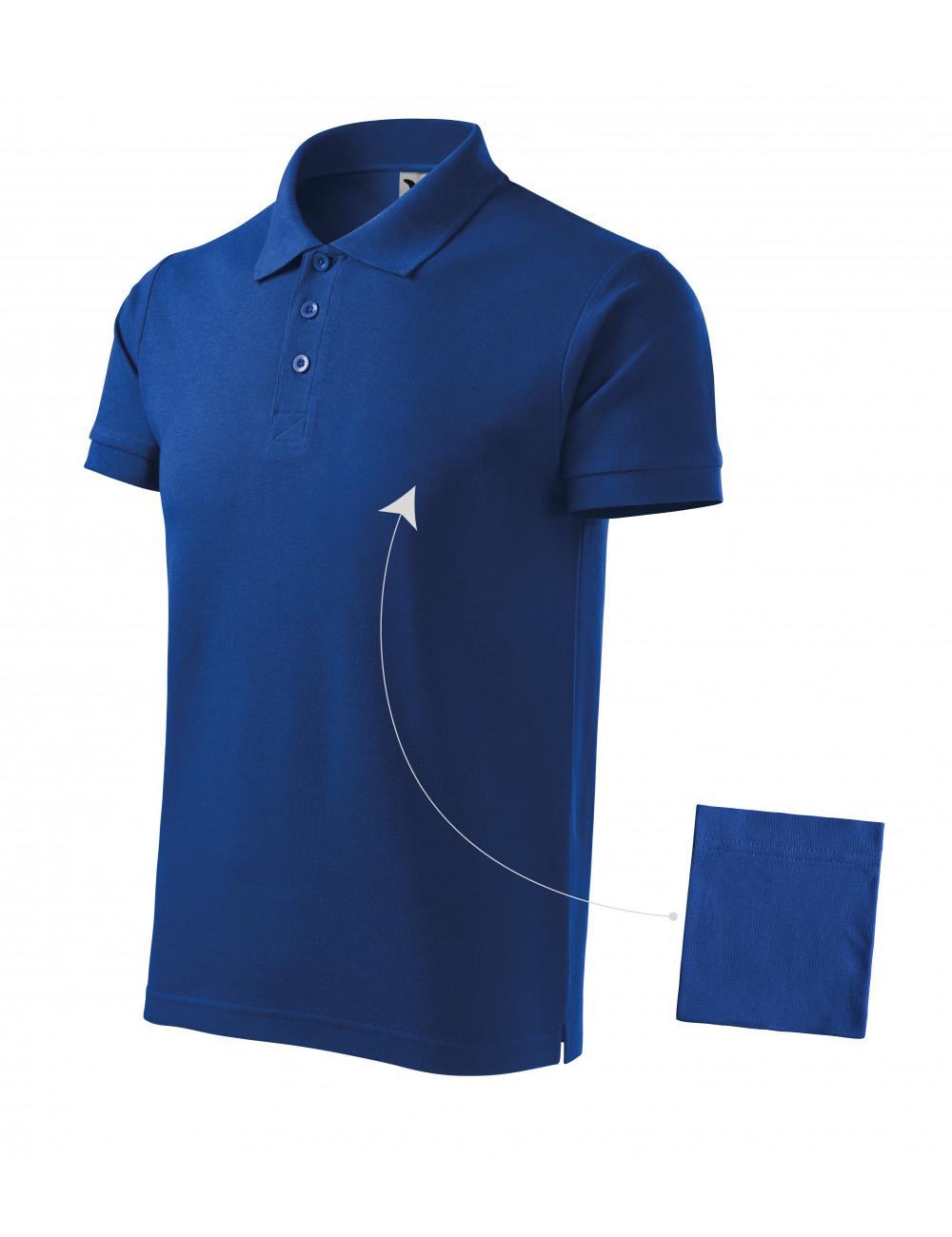 Adler MALFINI Koszulka polo męska Cotton 212 chabrowy