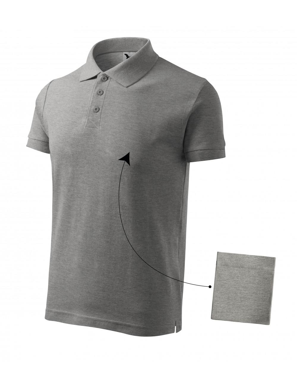 Adler MALFINI Koszulka polo męska Cotton 212 ciemnoszary melanż
