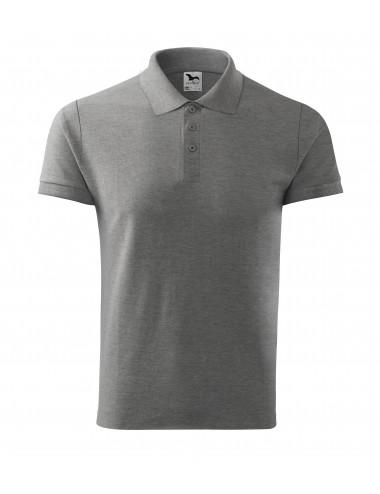 2Adler MALFINI Koszulka polo męska Cotton 212 ciemnoszary melanż