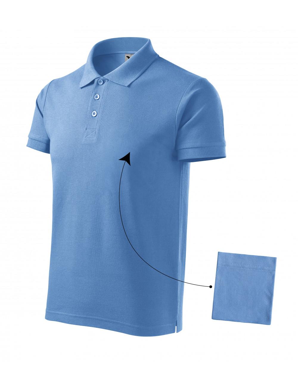 Adler MALFINI Koszulka polo męska Cotton 212 błękitny