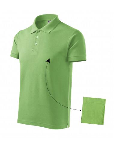 2Adler MALFINI Koszulka polo męska Cotton 212 groszkowy