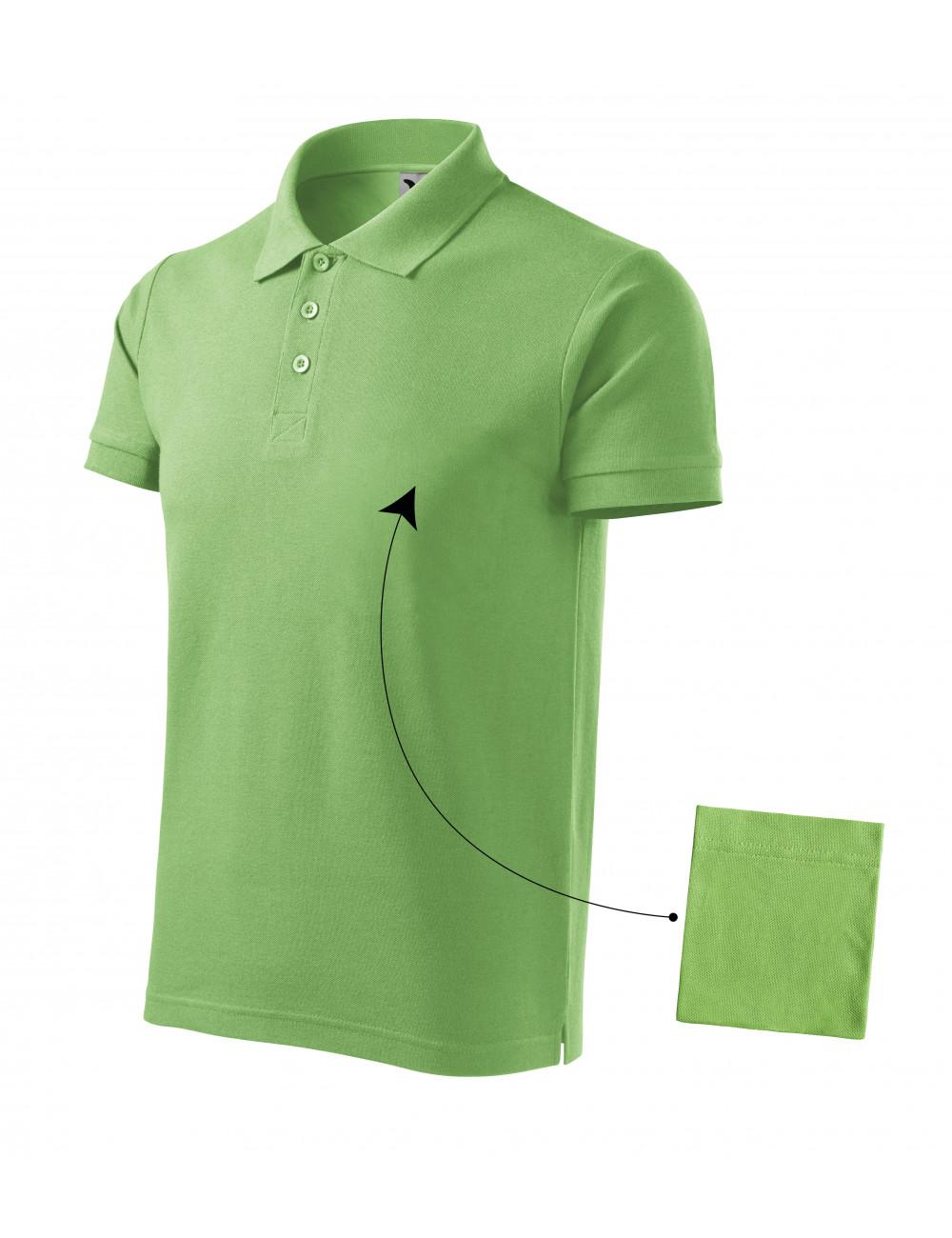 Adler MALFINI Koszulka polo męska Cotton 212 groszkowy