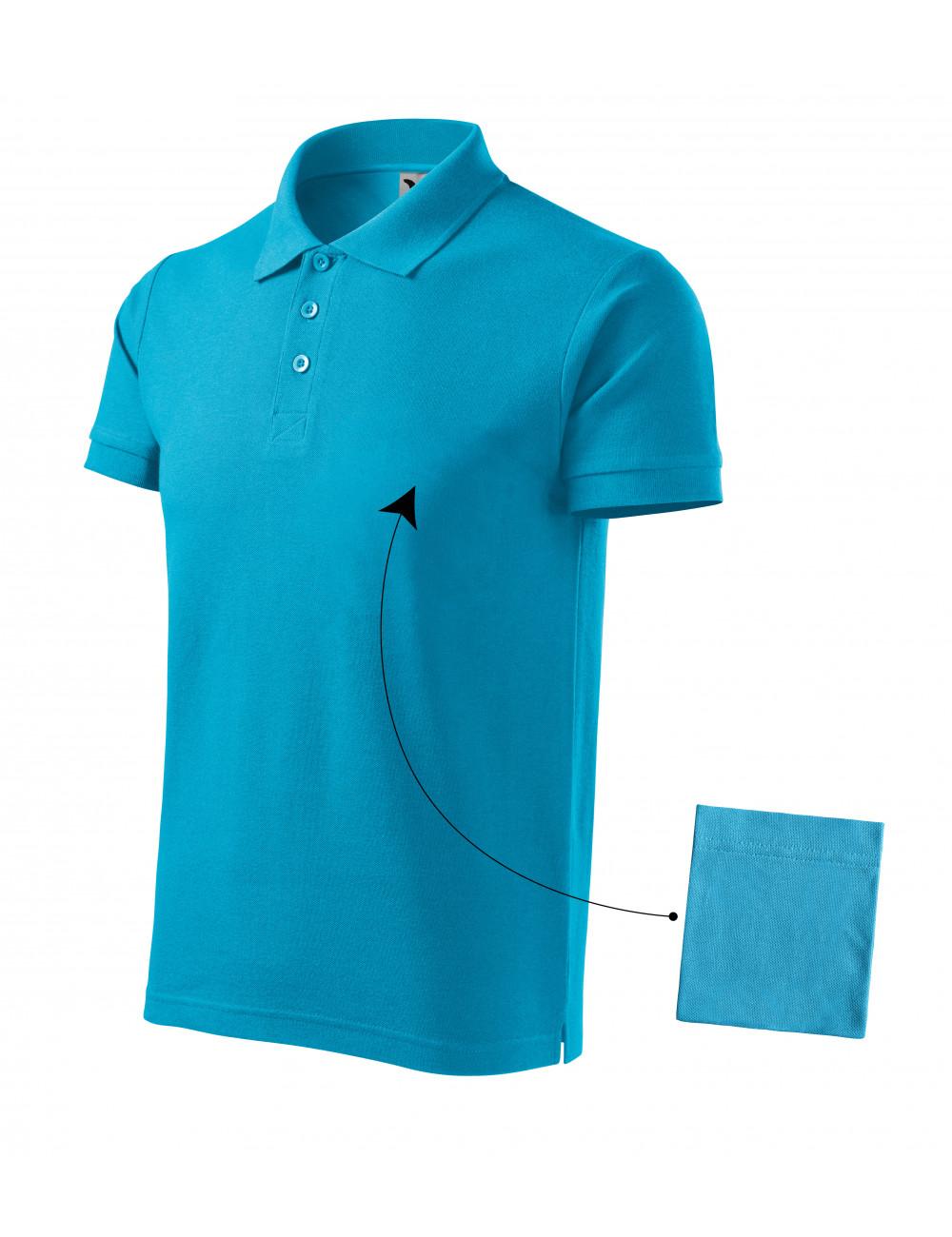 Adler MALFINI Koszulka polo męska Cotton 212 turkus
