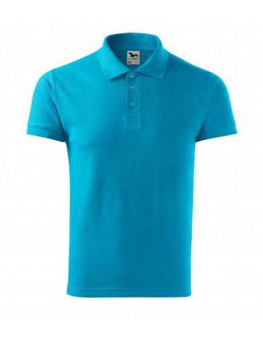 2Adler MALFINI Koszulka polo męska Cotton 212 turkus