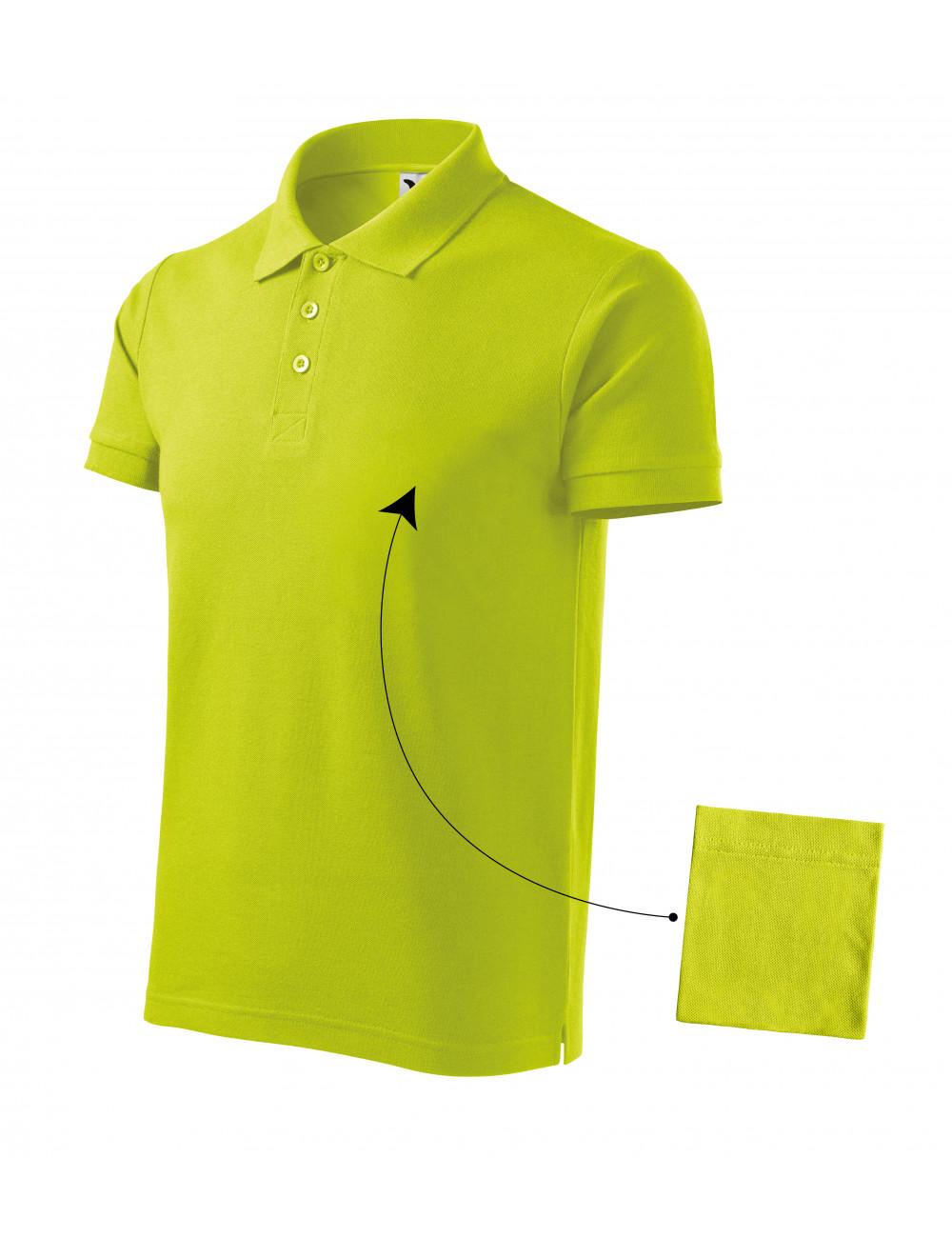 Adler MALFINI Koszulka polo męska Cotton 212 limetka