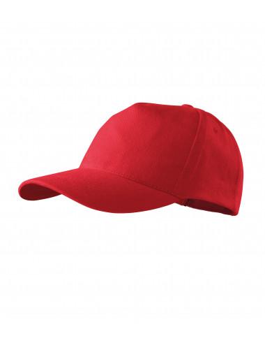 2Adler MALFINI Czapka unisex 5P 307 czerwony
