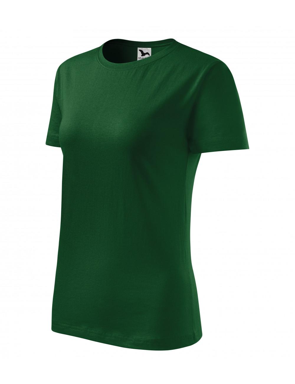 Adler MALFINI Koszulka damska Classic New 133 zieleń butelkowa
