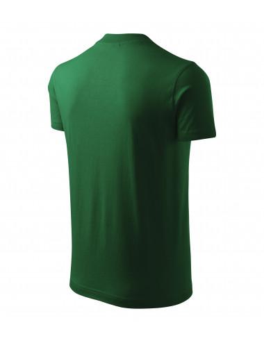 2Adler MALFINI Koszulka unisex V-neck 102 zieleń butelkowa