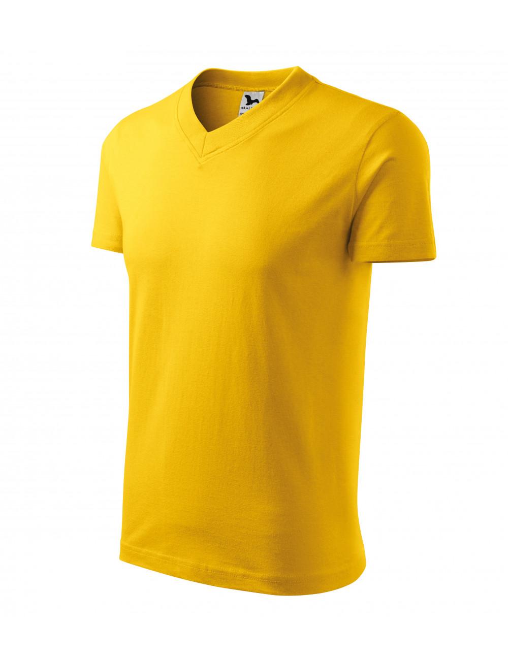 Adler MALFINI Koszulka unisex V-neck 102 żółty