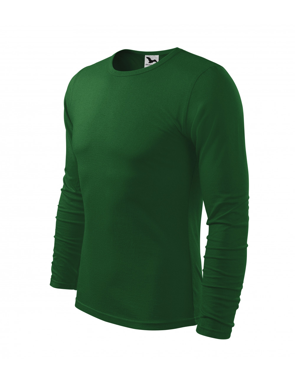 Adler MALFINI Koszulka męska Fit-T Long Sleeve 119 zieleń butelkowa