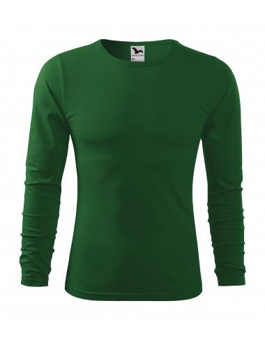 2Adler MALFINI Koszulka męska Fit-T Long Sleeve 119 zieleń butelkowa