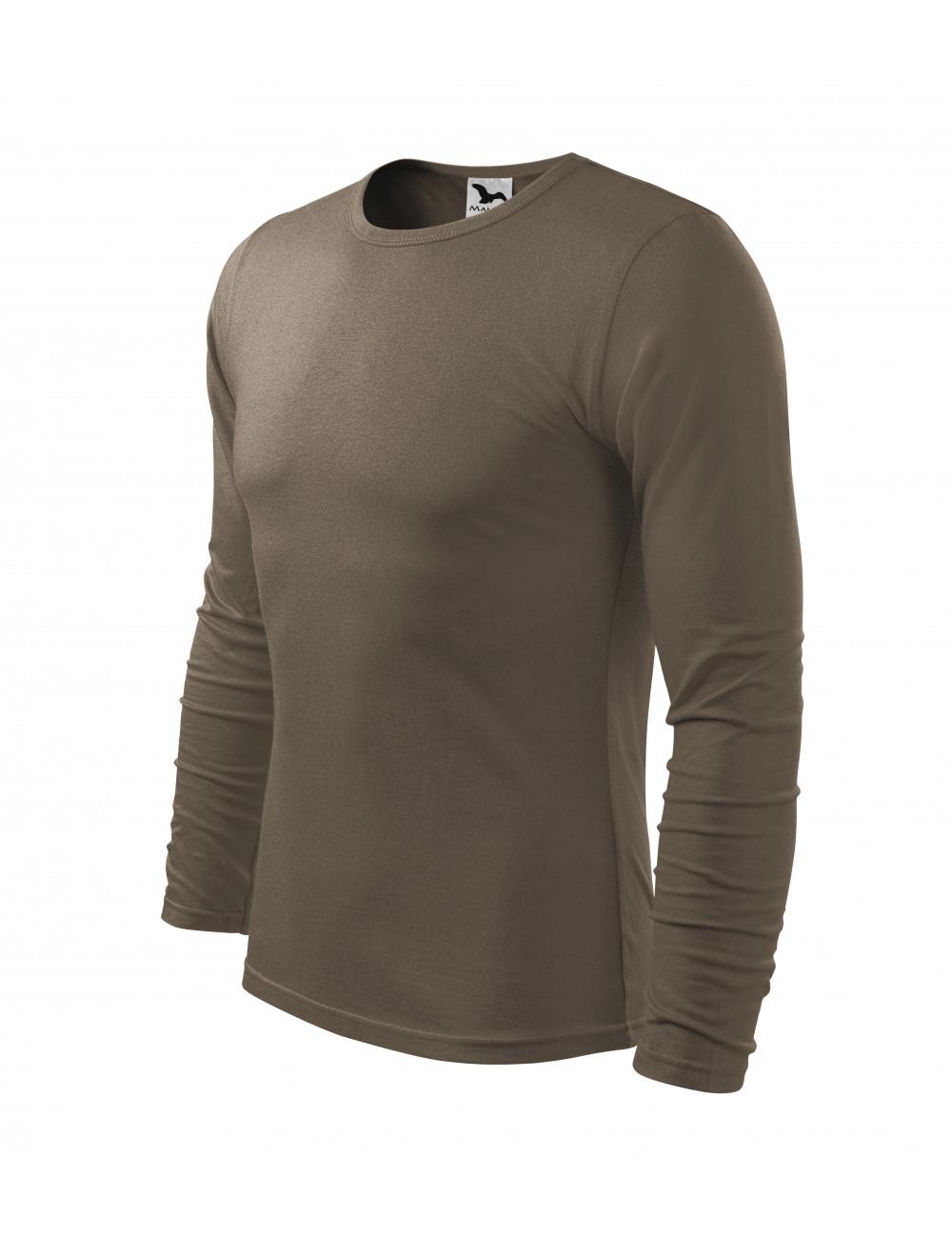 Adler MALFINI Koszulka męska Fit-T Long Sleeve 119 army