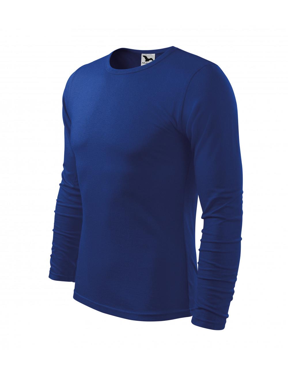 Adler MALFINI Koszulka męska Fit-T Long Sleeve 119 chabrowy
