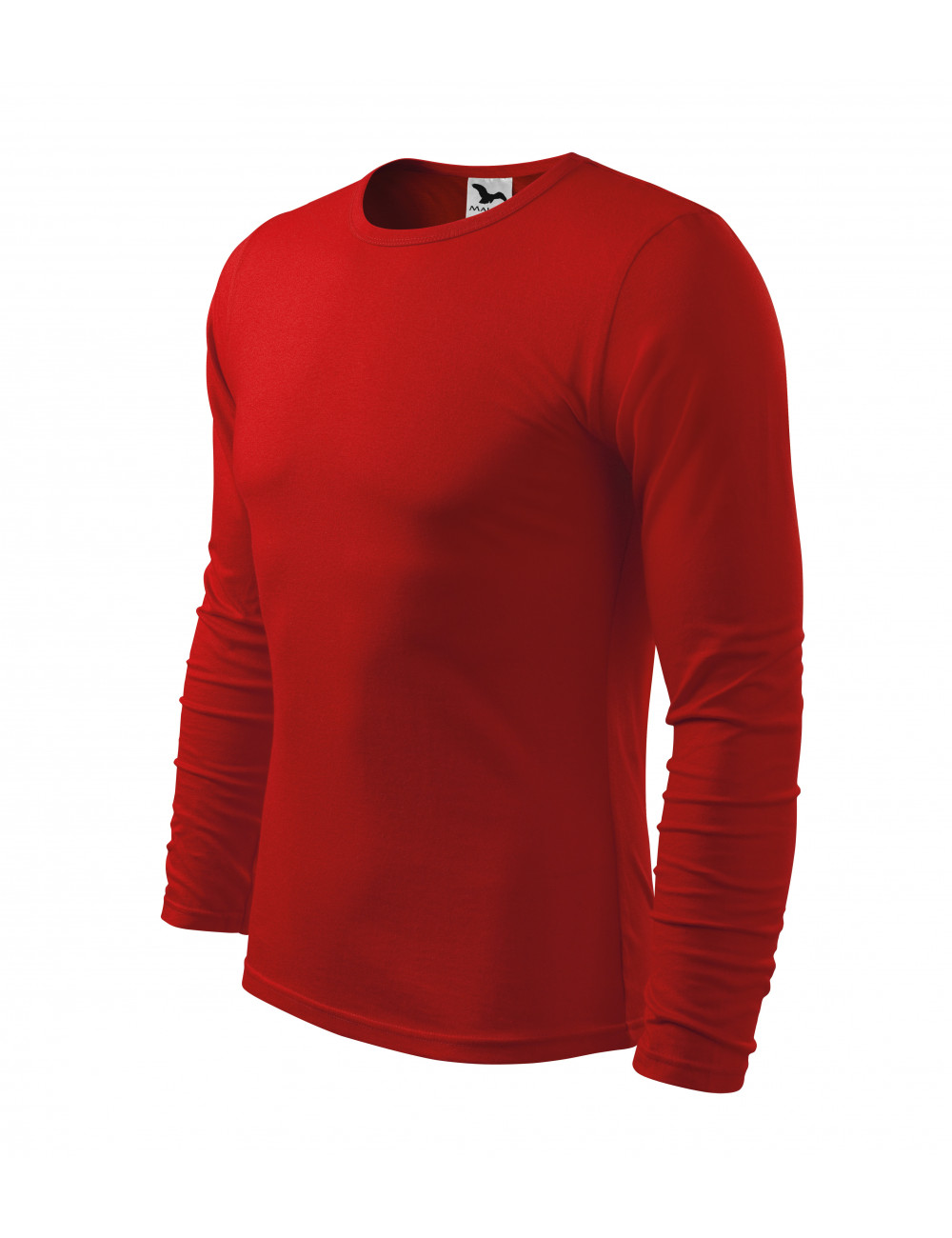 Adler MALFINI Koszulka męska Fit-T Long Sleeve 119 czerwony