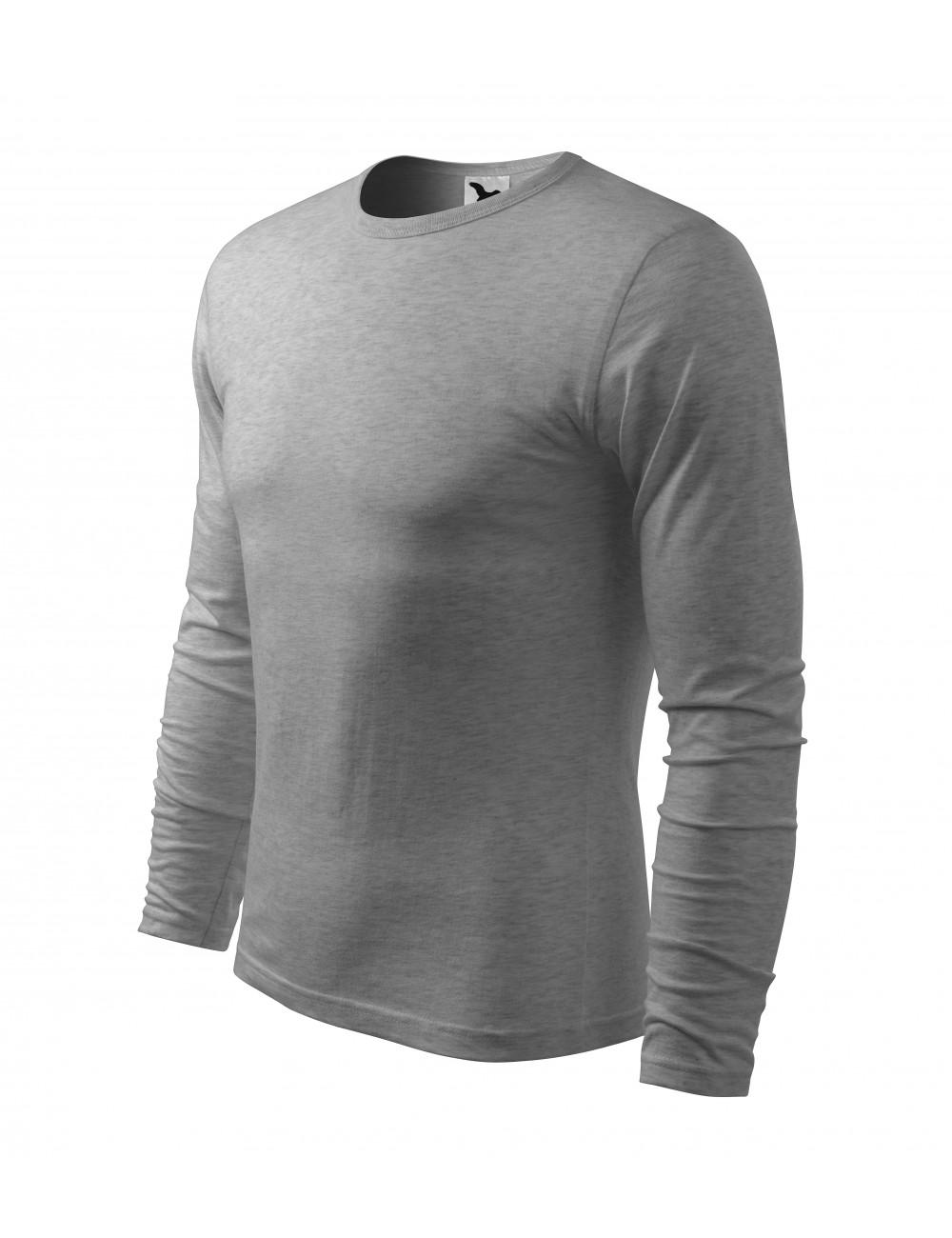 Adler MALFINI Koszulka męska Fit-T Long Sleeve 119 ciemnoszary melanż
