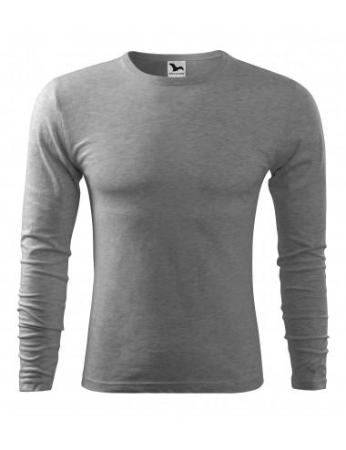 2Adler MALFINI Koszulka męska Fit-T Long Sleeve 119 ciemnoszary melanż