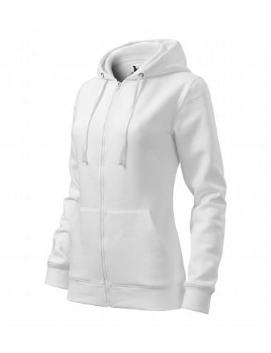 Adler MALFINI Bluza damska Trendy Zipper 411 biały