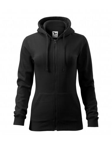 2Adler MALFINI Bluza damska Trendy Zipper 411 czarny