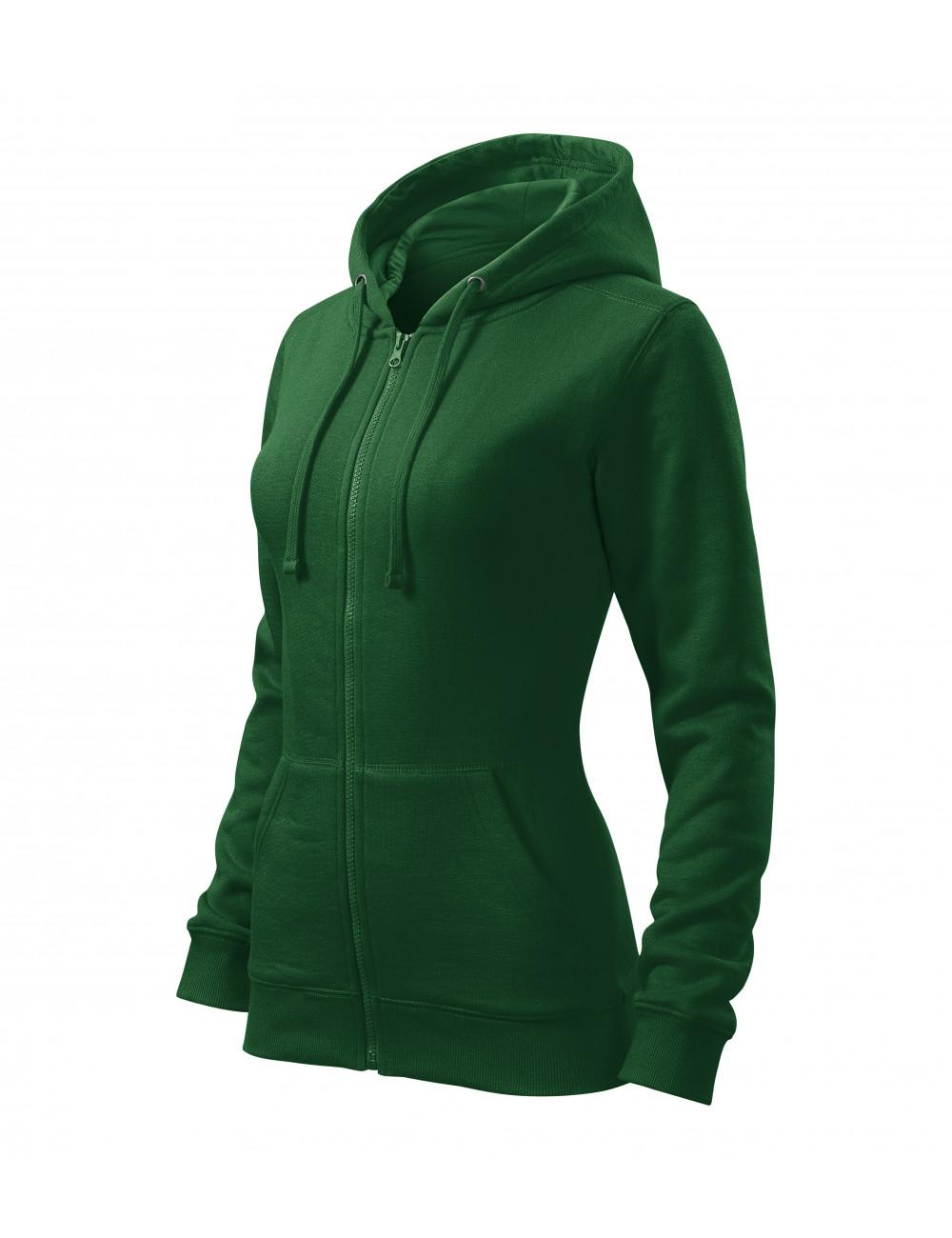 Adler MALFINI Bluza damska Trendy Zipper 411 zieleń butelkowa