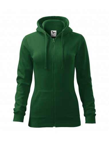 2Adler MALFINI Bluza damska Trendy Zipper 411 zieleń butelkowa