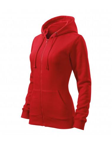 2Adler MALFINI Bluza damska Trendy Zipper 411 czerwony